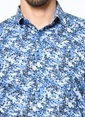 Daffari Desenli Uzun Kollu Gömlek Saks